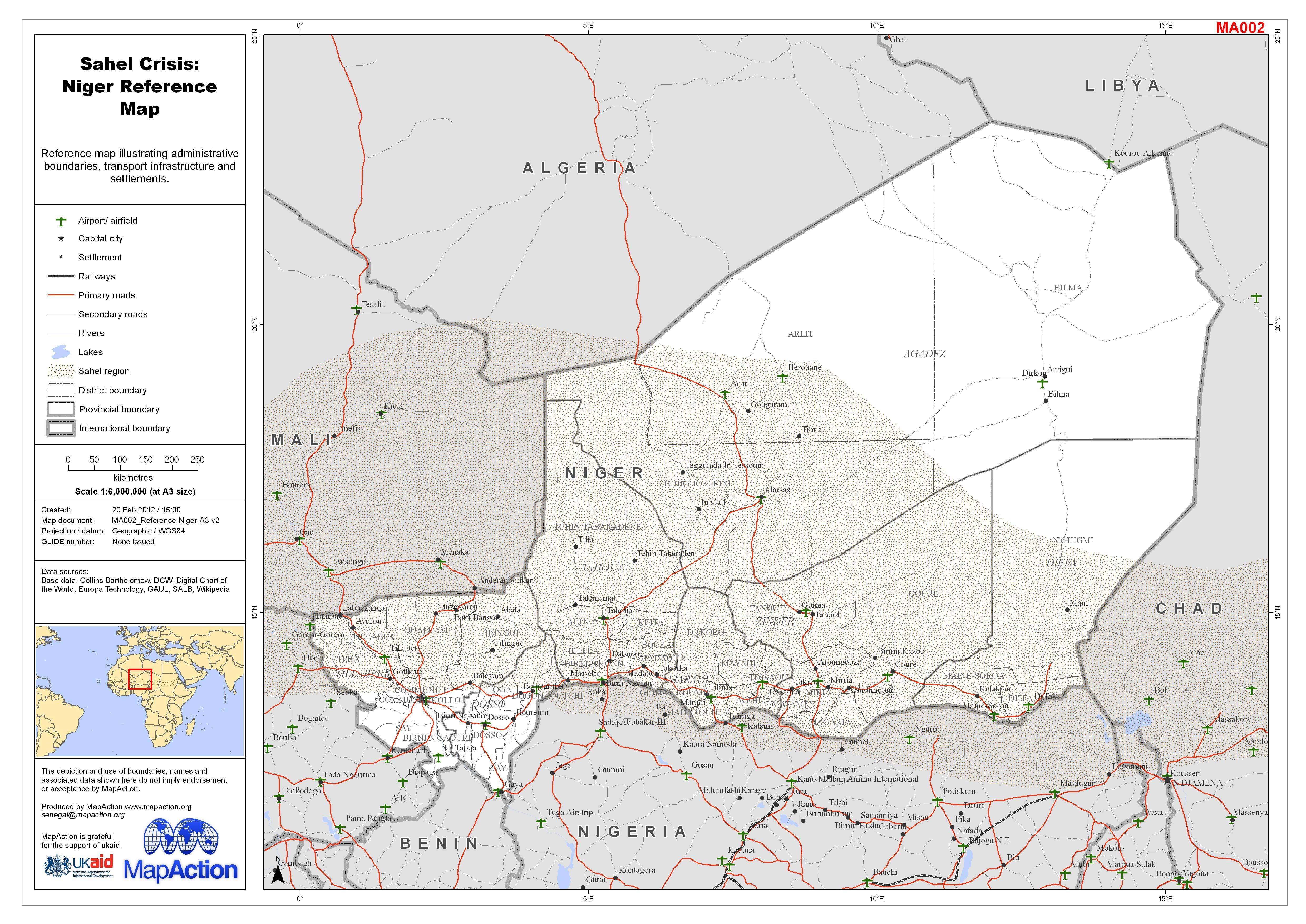 Datasets MapAction - Niger map hd pdf