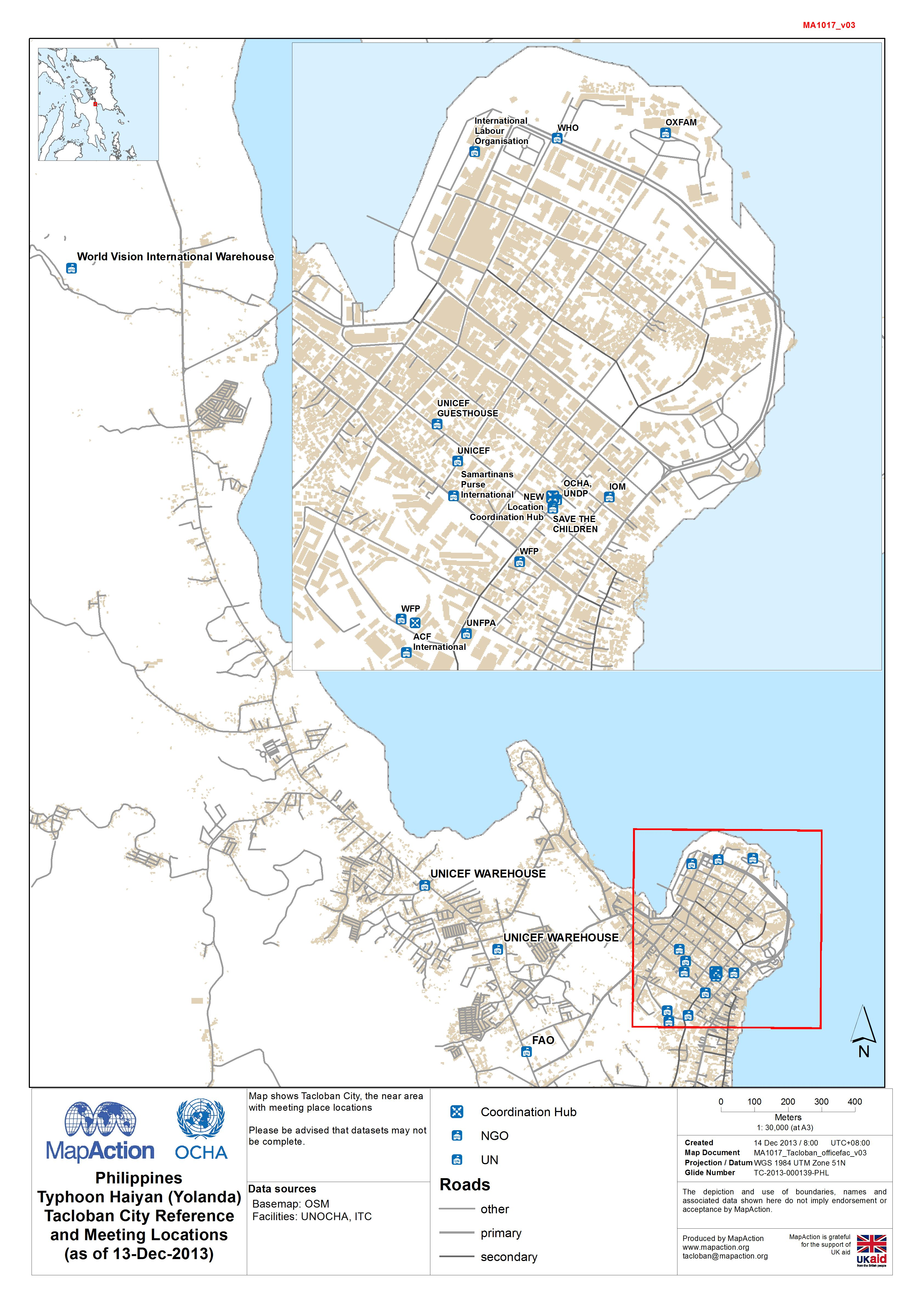 Tacloban Philippines Map.Philippines Typhoon Haiyan Yolanda Tacloban City Reference And