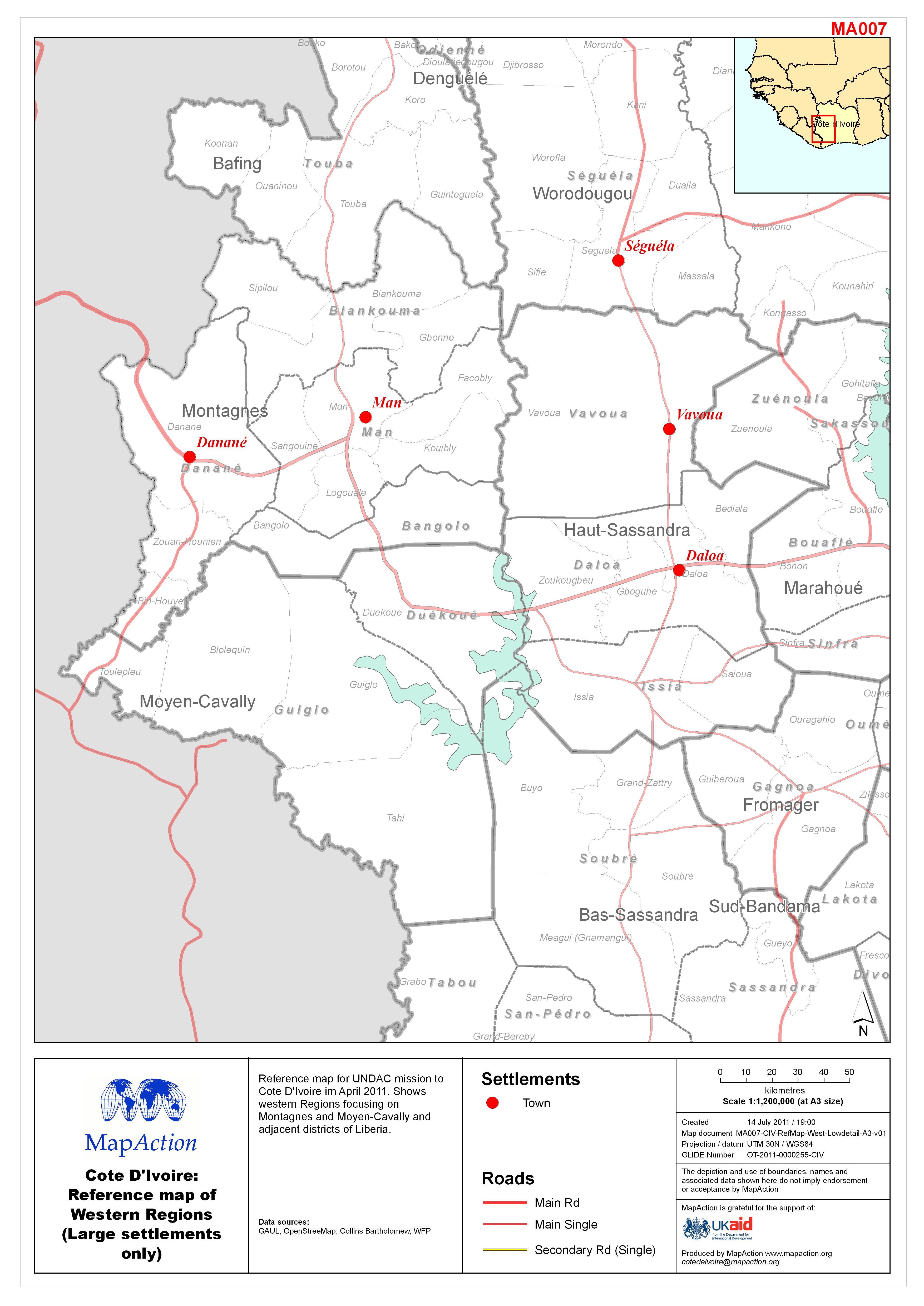 Postelection violence Cote dIvoire April 2011 MapAction