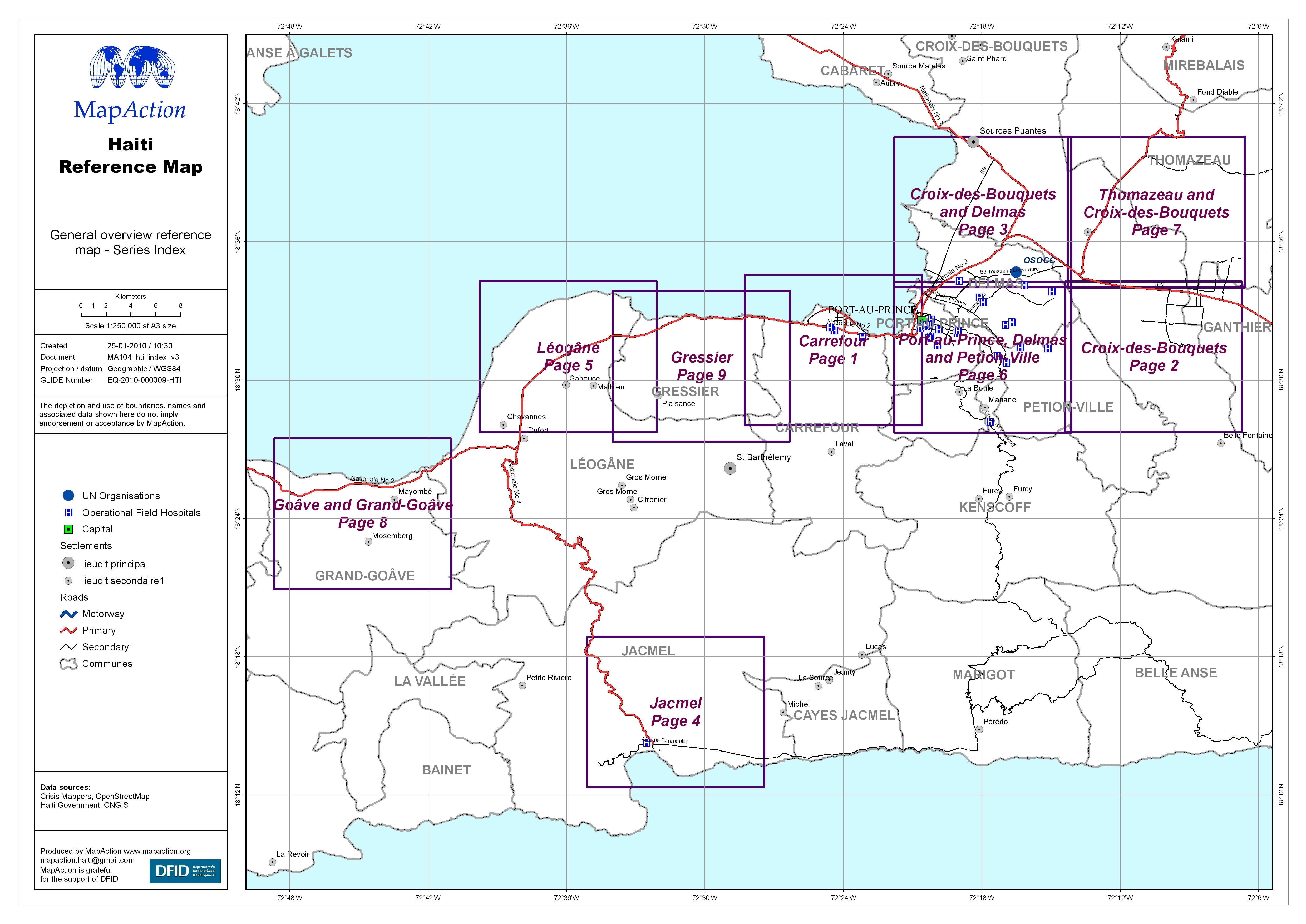Datasets MapAction