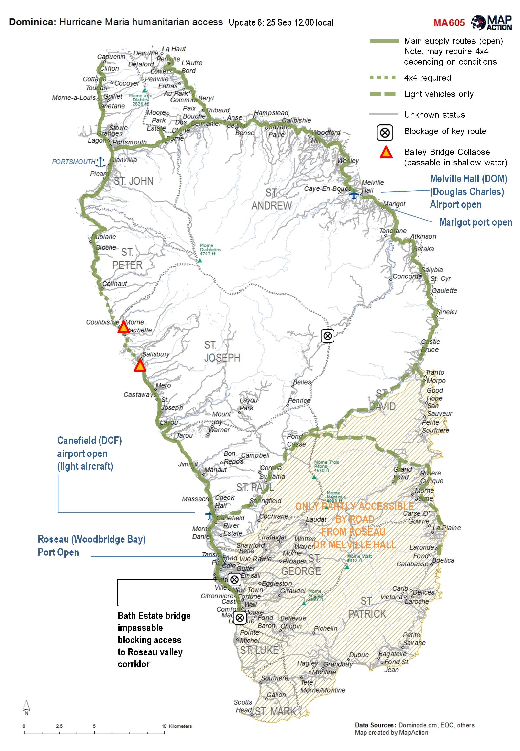 Tropical Storm Maria Caribbean MapAction - Dominica map hd pdf