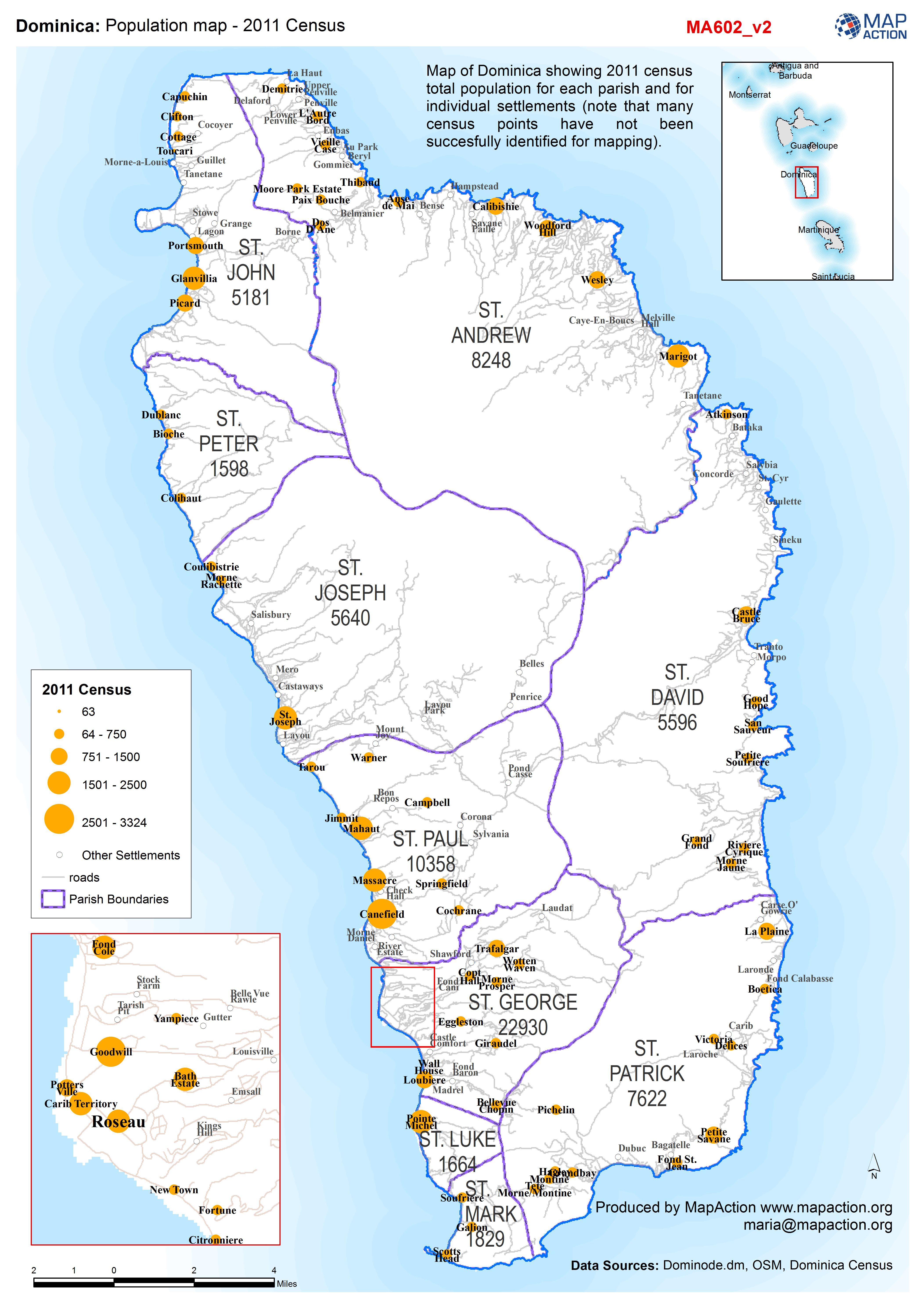 Dominica: Potion map - 2011 Census - Datasets - MapAction on
