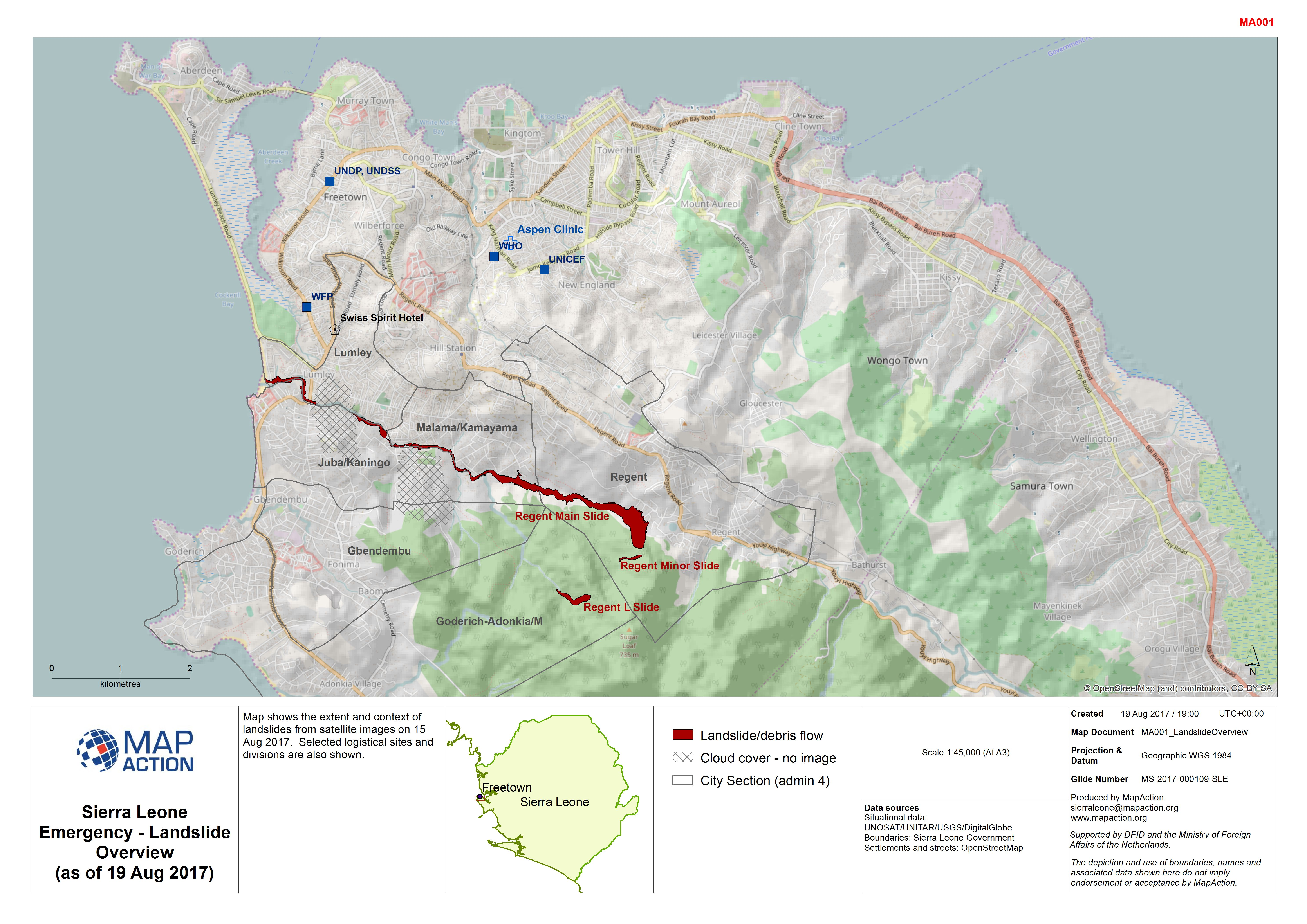 Sierra leone emergency landslide overview as of 19 aug 2017 download gumiabroncs Images