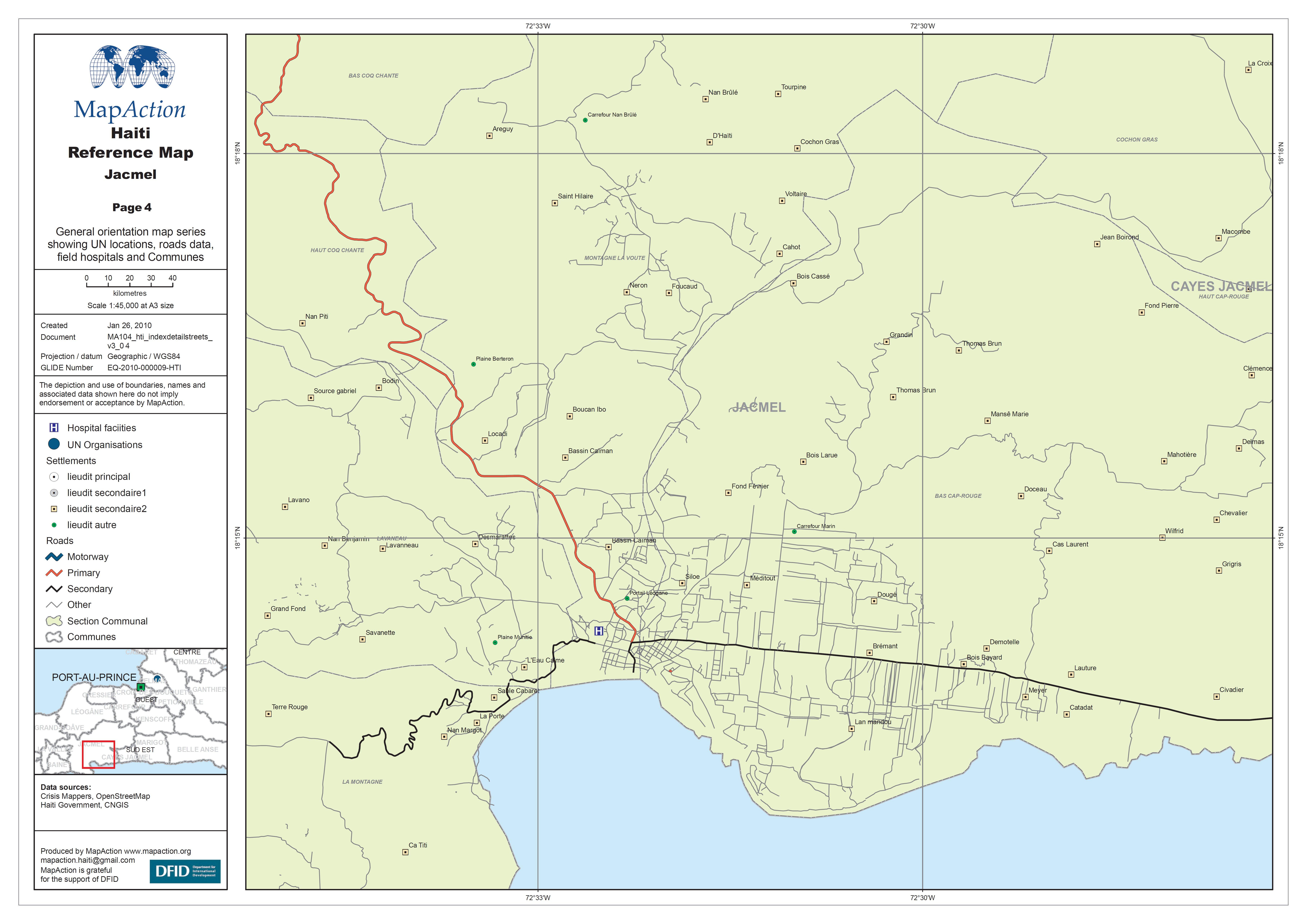 Haiti Reference Map Jacmel Datasets MapAction