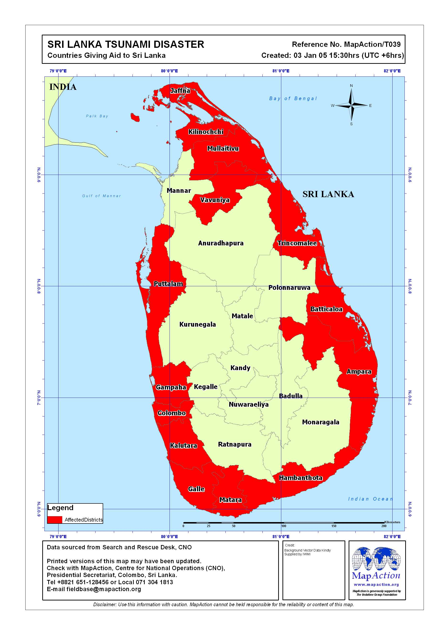 Map asian tsunami