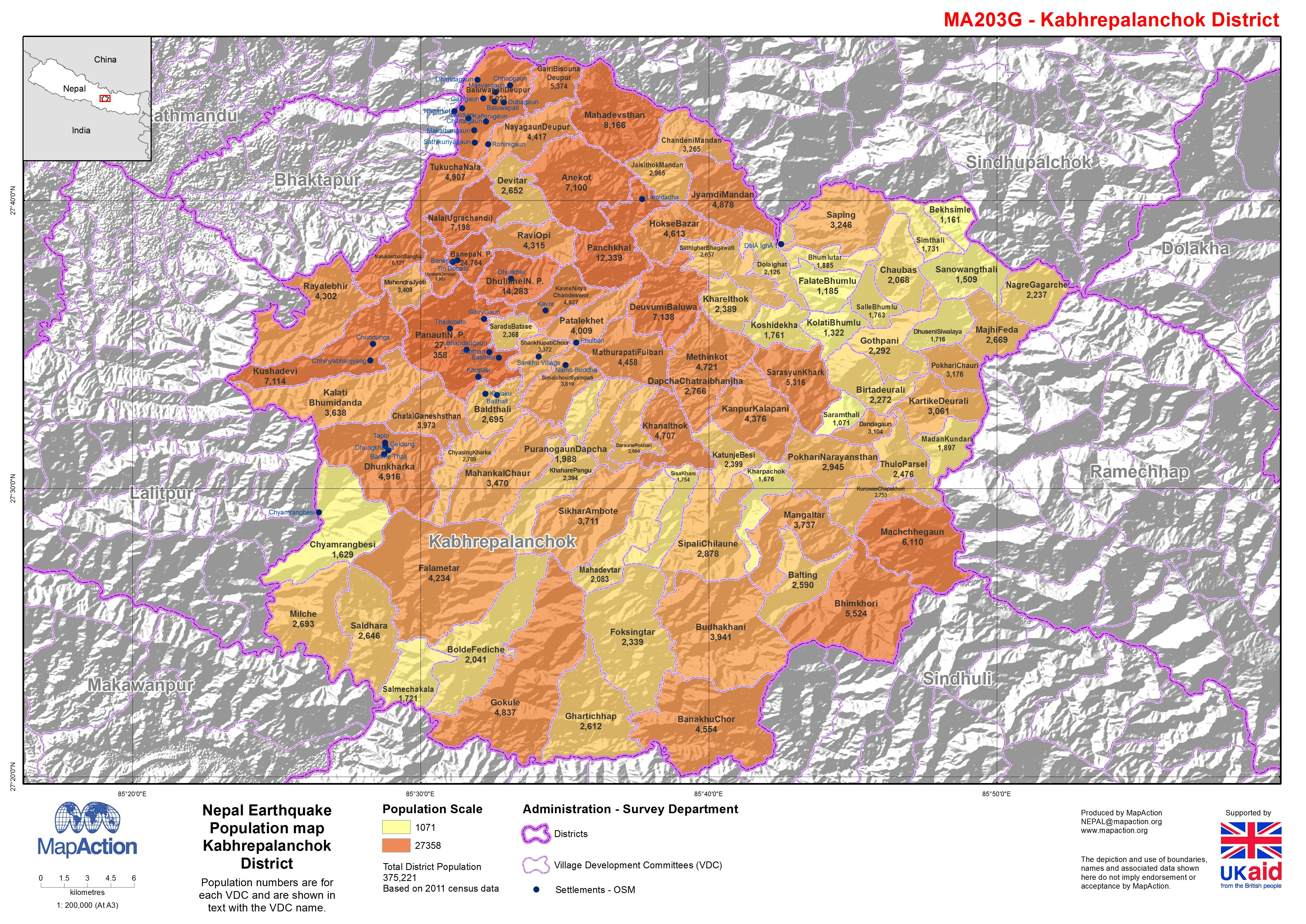 Nepal earthquake population map kabhrepalanchok district download gumiabroncs Image collections